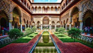 Explorer la résidence du roi d'Espagne Séville