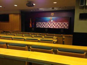 La découverte de la salle de presse Camp Nou Barcelone