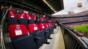 La visite des places présidentielles Camp Nou Barcelone