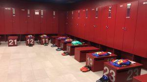 La visite des vestiaires Camp Nou Barcelone