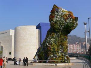 Se balader près de la Fontaine du Chien Bilbao