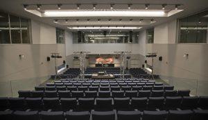 La salle de presse au Stade Estadio Metropolitano