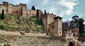 Le Castillo de Gibralfaro et l'Alcazaba