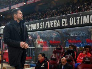 Le banc des managers au Stade Estadio Metropolitano de Madrid