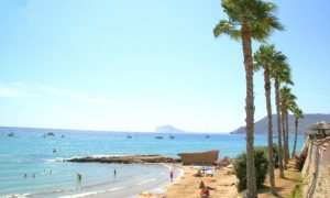 La plage Cantal Roig à Calpe Alicante