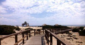 La plage Carabassi à Elche Espagne