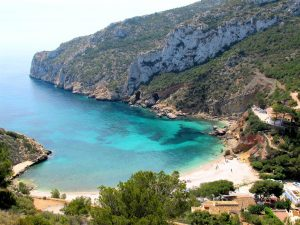 La plage Granadella à Javea Espagne