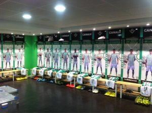 un tour dans les vestiaires Real Betis