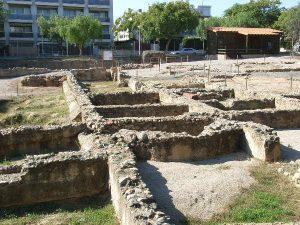Passer par la Villa Romana de la Llosa Catalogne
