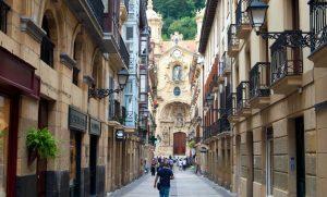 la vieille ville de Saint-Sébastien Espagne