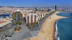 La plage de Barceloneta
