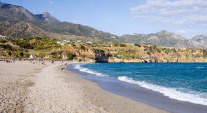 La plage de Burriana à Nerja Malaga