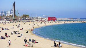 la plage la plus naturelle Bogatell