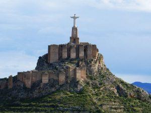 la statue du Christ à Monteagudo
