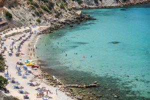 la plage de CALA D'HORT ibiza