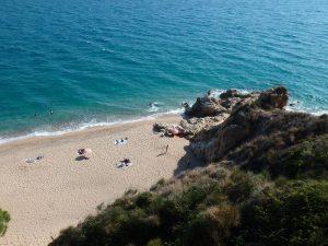Plage cala de la vinyeta amateurs de pêche en Espagne