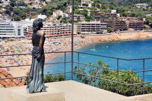 la statue d'Ava Gardner à Tossa De Mar