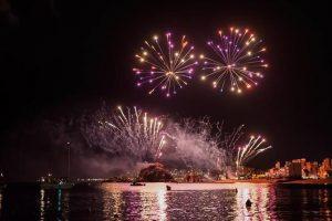 festival de feux d'artifice à Blanes