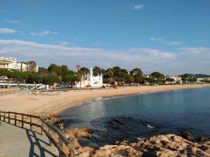 La plage Sant Pol de Mar